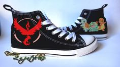 Custom shoes from Pokemon Go Team Valor! Get your own  #pokemongo #teamvalor #customize #shoes #canvas #painting