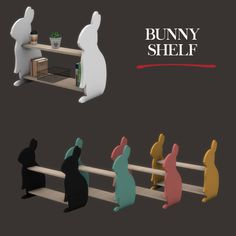 Bunny Shelf – Leosims.com -New