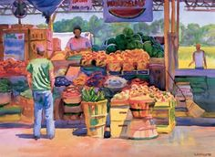 Farmer's Market by Wyatt Waters  Spring Secret