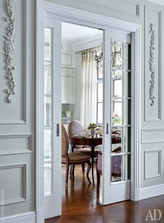 Interior french doors add a beautiful style and elegance to any room in your home. Interior Barn Doors, Home Interior, Interior Design, Interior Office, Interior French Doors, Kitchen Interior, Double Front Entry Doors, Sliding French Doors, French Pocket Doors