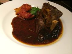 Slow Braised Lamb Henry, Provencal Potatoes & Black Olives, Minted Jus