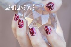 Garnet gemstone nails // Nail in the Coffee