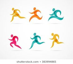 Running marathon colorful people icons and symbols Black Spades, People Icon, Sports Flyer, Japanese Graphic Design, Marathon Running, Embroidery Designs, Vector Free, Logo Design, Design Inspiration