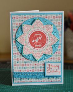 Happy birthday card for a loved one, especially someone who loves birds and cages.