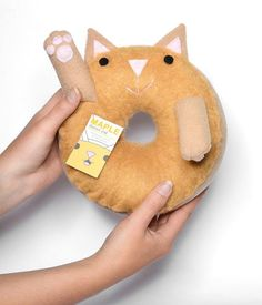 Redefine 'comfort food' with cute and cuddly donut-cat companions from Etsy shop MarninSaylor — available in maple, chocolate and vanilla, of course. #etsyfinds