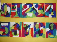 Numbers inspired by Jasper Johns