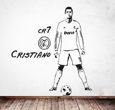 Cristiano ronaldo real madrid cr7 wall decal football soccer vinyl cr7 httpmyvinilovinilos popcr7 voltagebd Choice Image
