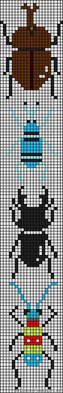 Bugs perler bead pattern