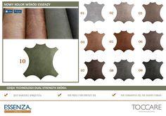Nowy kolor w kolekcji ESSENZY. Zielonkawy - aż 70 % skóry naturalnej. Przypominamy, że tkanina ta  jest zdobywcą złotego medalu na Międzynarodowych Targach w Poznaniu w 2016 roku.   Wiemy jak uwielbiacie tą tkaninę więc postanowiliśmy rozszerzyć gamę kolorystyczną specjalnie dla Was !  Zobaczcie więcej szczegółów na: www.toccare.com.pl/kolekcja/essenza/