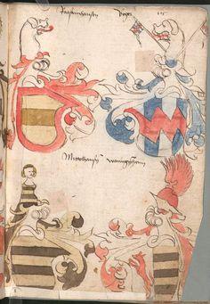 Wernigeroder (Schaffhausensches) Wappenbuch Süddeutschland, 4. Viertel 15. Jh. Cod.icon. 308 n  Folio 115r