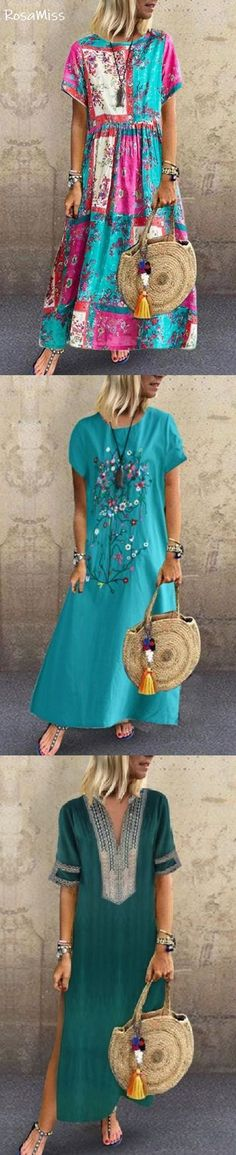 SHOP NOW>>Up To 70% OFF New Arrival Summer Dresses for Your Choice! - Mama Mode Stricken - #Arrival #Choice #Dresses #Mama #mode #NOWUp #Shop #STRICKEN #Summer Summer Dress Outfits, Casual Dresses, Fashion Dresses, Cute Outfits, Vintage Outfits, Frack, Mode Boho, Couture, Beautiful Dresses