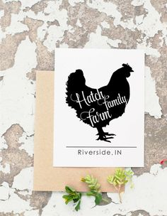 Chicken Stamp Custom Rubber Stamp Farm Rubber by ThePrintMint