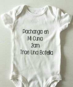 Diy ropa bebe spanish 39 new ideas Baby Shirts, Onesies, Mom And Baby, Baby Kids, Baby Boy Outfits, Kids Outfits, The Babys, Mexican Babies, Clothing Hacks