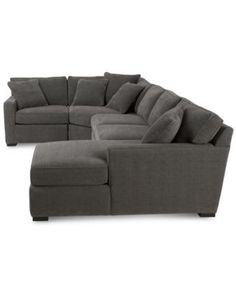 Radley 4-Piece Fabric Chaise Sectional Sofa