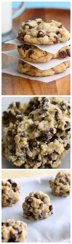 My Big Fat, Chewy Chocolate Chip Cookies - tried and true chocolate chip cookies. - My Big Fat, Chewy Chocolate Chip Cookies – tried and true chocolate chip cookies. Cookie Desserts, Just Desserts, Cookie Recipes, Dessert Recipes, Cupcake Recipes, Dessert Ideas, Desserts Nutella, Baking Desserts, Summer Desserts