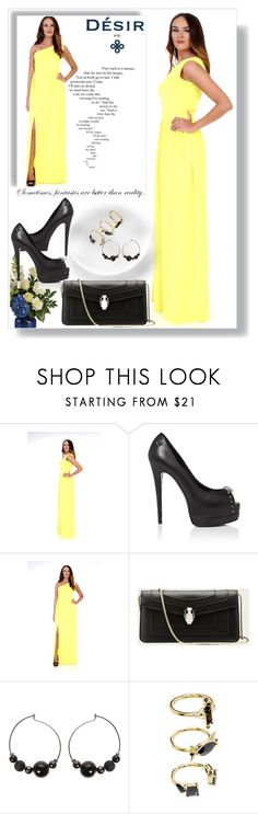 """DesirVale 9"" by melissa995 ❤ liked on Polyvore featuring Noir Jewelry and plus size dresses"