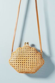 Woven Shell Crossbody Bag Seashell Nautical Beach Style
