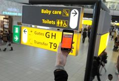 Schiphol Airport launched a a mobile app in January 2012 specifically designed to help Chinese navigate around the airports. Users can point their phones signs in Amsterdam's Schiphol Airport to obtain a Chinese translation.