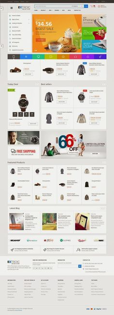 3 in 1 Responsive Multipurpose Magento Theme 2015 #eCommerce