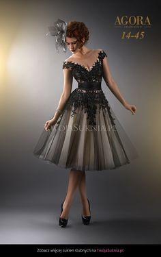 Czarna Sukienka Ślubna Agora