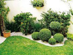 jardin exterior pequeño | inspiración de diseño de interiores