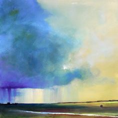 Toni Grote Spiritual Art From My Heart to Yours : Jan 9 Stormy Original Painting Landscape