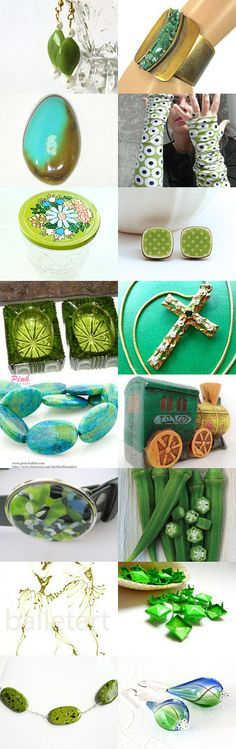 Green is hope's color! by Adriana Fox on Etsy--Pinned with TreasuryPin.com
