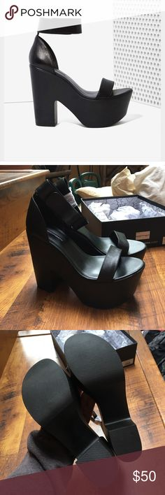 Nasty Gal platforms Windsor Smith Nasty Gal platform heels. Velcro strap. Size 10, but a little narrow, would probably fit a 9/9.5 better. Never worn, perfect condition, still in the box. Nasty Gal Shoes Platforms