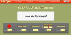 25 Useful CSS3 Tools and Auto Generators