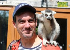 Emmerdale's Cain Dingle (Jeff Hordley) visits the lemurs at the Tropical Butterfly House, Wildlife & Falconry Centre near Sheffield.