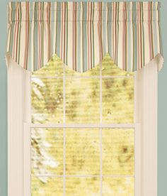 Window Toppers Laura's Stripe Three-Scoop Valance - Country Curtains®