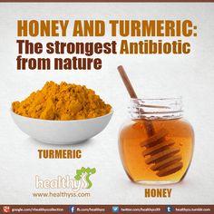 Turmeric and honey- 3.5 oz. honey and 1 T turmeric