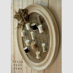 Porte-bobines en bois et fil de fer par trois fois rien
