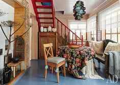 Русский домик в Калужской области: работа дизайнеров Дины Косточки и Нины Биркадзе   AD Magazine