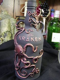 Kraken Rum sculpted octopus bottle by Ghola on Etsy, $100.00  Creativity | #MichaelLouis - www.MichaelLouis.com