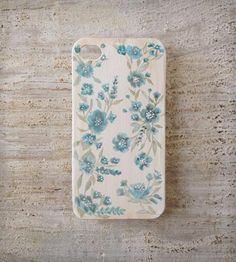 Blue Floral iPhone 5 Case | iPhone iPhone 4/4s | A Fancy Or A Feeling | Scoutmob Shoppe | Product Detail