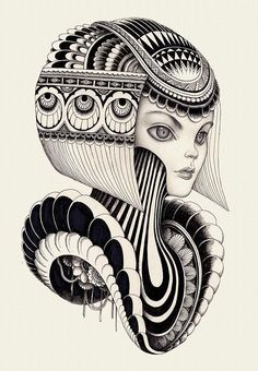 Illustrator, Iain Macarthur discovered a unique way to marry pencil and pen to create intricate patterns and lines that result in surreal outcomes. Doodle Art Drawing, Illustration Art Drawing, Zentangle Drawings, Creative Illustration, Zentangle Patterns, Unique Drawings, Art Drawings Sketches Simple, Creative Sketches, Abstract Pencil Drawings