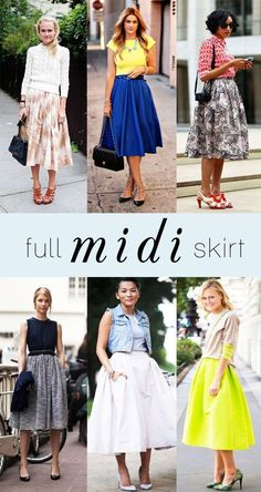 The Midi-Skirt: a perfect transition piece for Fall!