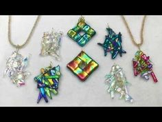 Lisel Crowley - Embrace Pendant using a Fused Glass Cabochon - YouTube
