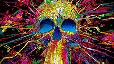 Psychedelic Skull [1920x1080]