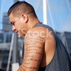 Pacific Island Man against Urban Background royalty-free stock photo