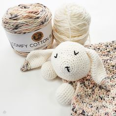 Posey the Bunny Lovey - Stitch and Hound Crochet Lovey, Crochet Amigurumi Free Patterns, Chunky Crochet, Crochet Blanket Patterns, Baby Blanket Crochet, Crochet Toys, Crochet Animals, Free Crochet, Bunny Blanket