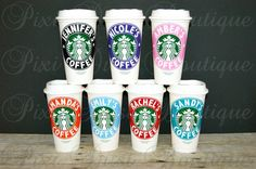Starbucks cup, Starbucks Personalized Coffee Cup, Reusable Coffee Mug, Personalized Coffee Mug, Reusable Coffee Cup, Personalized Coffee Cup by Pixidustboutique on Etsy https://www.etsy.com/listing/227220188/starbucks-cup-starbucks-personalized