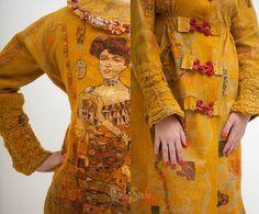 Felted coat Golden Adely Золотая Адель