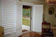 French Door-style Shutters for Sliding Glass Door