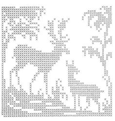 This would be pretty cross stitched in black or charcoal on natural colored linen.