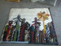 memorial quilt from ties.