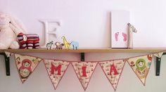 Personalized Russian Babushka Doll nursery bunting decoration