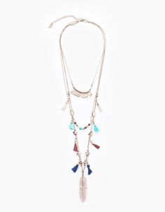 Collier long houppes - COLLIERS - FEMME | Stradivarius France