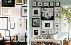 Exposição de fotos PB e quadros diversos.
